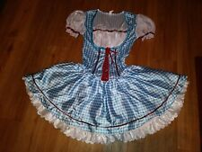 WIZARD OF OZ Halloween COSTUME Blue White Gingham Sexy Dorothy (erc-b)