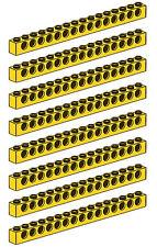 LEGO Technic 8 pcs XL YELLOW BRICK BEAM 1x16 WITH HOLES 16 studs long Part 3703