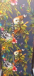 Lemur Midnight Blue, Animal Wallpaper