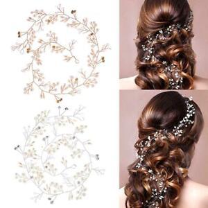 Bridal Wedding Jewellery Pearls Crystal Rhinestones Hair Vine Headpiece 35/50cm