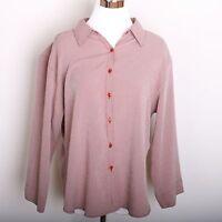 Christopher & Banks Long Sleeve Button Down Shirt Women's Size XL