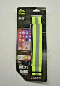 RBX Reebok High Vis Visibility Waist Band w Pocket Running Smart Phone Carrier