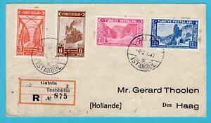 TURKEY R cover 1940 Galata - Istanbul to Netherlands with railroad stamps