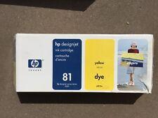 Brand NEW New Genuine HP 81 680ml Yellow DesignJet Dye Ink C4933A