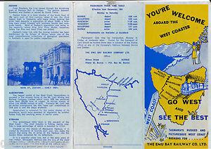 Emu Bay Railway Memorabilia.. A New Copy of a Tourist Brochure with Stats.. 1961