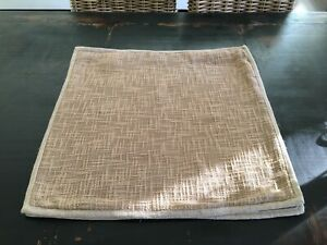 Pottery Barn Tan Basketweave Pillow cover Set of 2