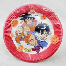 Retro Rare! Dragon Ball Z Paper Plate 6pc set Gokou Gohan JAPAN ANIME