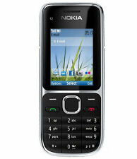 Unlocked Nokia C Series C2-01 Black 3.15 MP Camera Mobile Phone Black