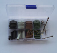 40pcs Dental Silicone Rubber Polishing Wheels Polisher+4pcs Mandrel Shank 2.35mm