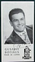 French Opera Tenor Gustave Botiaux ca 1960 signed photograph