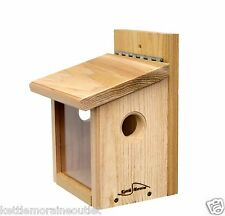 Kettle Moraine Post Mount Bluebird Mealworm Feeder for Live or Roasted Meaworms