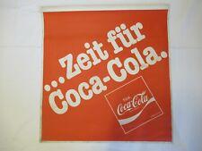 Zeit für Coca - Cola : Fahne Flagge,Banner,Werbebanner,Werbung,Reklame /ca.80er