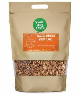 Toasted & Malted Wheat Flakes    GMO Free   Vegan   Dairy Free   No Added Sugar