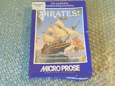 C64/128K PIRATES PIRATES! AKA SID MEIER'S PIRATES! MICROPROSE 1986 5.25 DISK IN