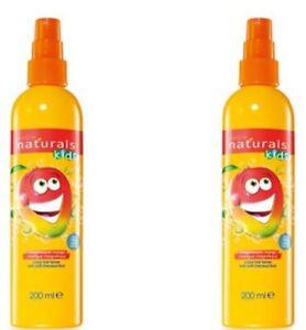 Brand New Avon Naturals Kids Hair mango Detangling Spray 200ML x 2 Hair Tamer