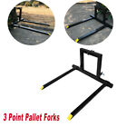 3 Point Pallet Fork Attachment Category 1 Quick Hitch Logs Fields 1500 lbs 49''
