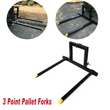 3 Point Pallet Fork Attachment Category 1 Quick Hitch Logs Fields 1500 Lbs 49