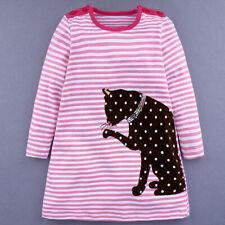 Kinder Mädchen Kleid Gr. 116 Kinderkleid Weihnachten Party Freizeit Jersey