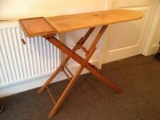 VTG c1930s TIMBER IRONING BOARD FOLDING sideboard hall side phone table