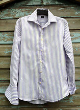 """Paul Smith London Men's Double Cuff Shirt (15.5""""; 39cm Collar) Made in Italy"""
