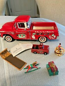 Franklin Mint 1955 Chevy Chevrolet Pick Up Truck Fabulous Christmas Toy Delivery