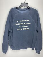 Wildfox Couture Womens My Favorite Outdoor Activity Pullover Sweater Gray