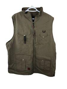 Men's Outdoor Fishing Camping Hunting Vest Khaki Multipocket Men's XL New