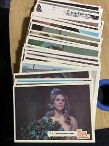 1976 Donruss THE BIONIC WOMAN Complete 44 Card Set - VG Condition