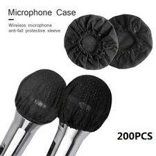 More details for 200x disposable non-woven microphone headset windscreen mic cover hat for ktv uk