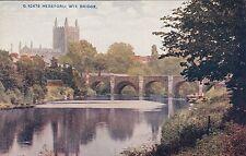 Postcard - Hereford.  Wye Bridgre