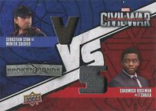 Captain America Civil War Costume Card BBV-JT Sebastian Stan & Chadwick Boseman