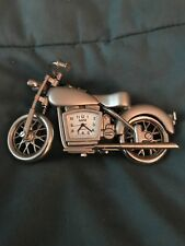 Gamz Motorcycle Metal Motor Bike Miniature Novelty Clock Quartz