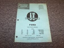 Ford 901 1801 2000 4000 6000 Major 601 700 701 800 801 Tractor Flat Rate Manual