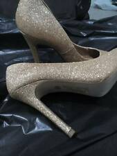 high heels *gold glittered * party shoes  *  Size 3 * clubbing