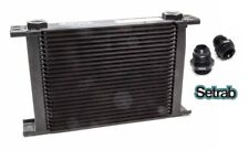 SETRAB OIL COOLER P/N  625 (25 ROW ) P/N 50-625-7612 with FITTINGS, FREE SHIP!