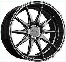 20x9/10.5 XXR 527D 5x114.3 +20 Chromium Black Wheels (Set of 4)