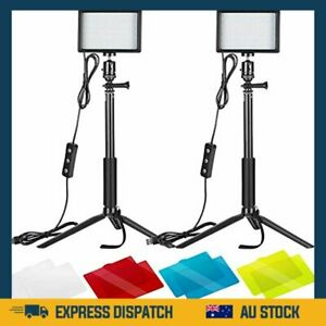Neewer 2 Packs Dimmable 5600K USB LED Video Light with Adjustable Tripod Stand/C