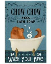 Bath Soap Company Chow Chow Canvas Wall Art Anniversary Birthday Housewarming