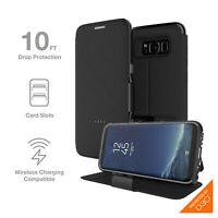 Samsung Galaxy S8 Case Gear4 Oxford Folio Advanced Impact Protection D30 - Black