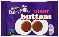 Cadbury Dairy Milk Chocolate Giant Buttons Bag, 40g Pack of 18