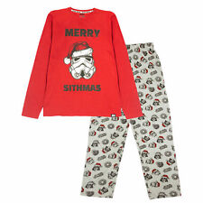 Mens Star Wars Long Pyjamas Set Merry Sithmas Christmas Official Merchandise