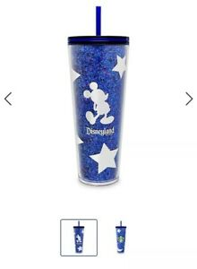 Mickey Mouse Tumbler with Straw by Starbucks Disneyland Wishes Come True Blue