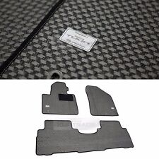 TUON OEM Parts Carbon Style Metal Rubber Floor Mats 3p for KIA 15-18 Sorento UM