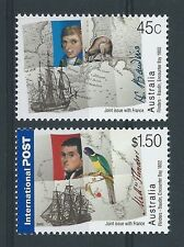 AUSTRALIA 2002 FLINDERS-BAUDIN JOINT ISSUE WITH FRANCE UNMOUNTED MINT, MNH .