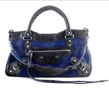 SOLD OUT Limited Ed First Pony Hair Balenciaga Handbag Blue & Black RRP$2K+