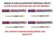 x4 Glow Plugs (HKT JAPAN) For Isuzu D-Max Rodeo Pickup TFS77 3.0TD (7/03-8/06)