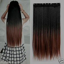 Hair Extension 25 Inc Maroon Black Mix Strait Extension original  3T33 sale