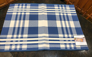 Threshold 2'x3' Indoor/Outdoor Reversible Blue & White Accent Rug