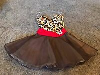 0-2 Sherri Hill Leopard Animal Print Party Homecoming Prom Formal Cocktail Dress