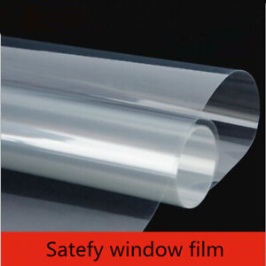 2mil Safety Window Film Clear Shatter Proof Glass Tint security 20''x78.74''